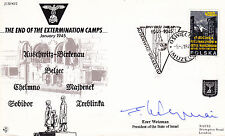 JS50 45/2 Auschwitz 1995 RAF cover signed Israel President WEIZMAN RARE