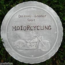 plastic motorcycle plaque mold concrete plaster casting garden mould