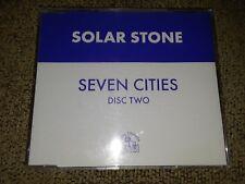 "SOLAR STONE - "" SEVEN CITIES "" , DISC 2 ,1999 RARE U.K. CD SINGLE ON HOOJ CHOONS"