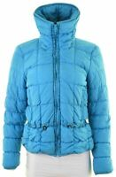 ARMANI JEANS Womens Padded Jacket Size 12 Medium Blue Polyester  IW01