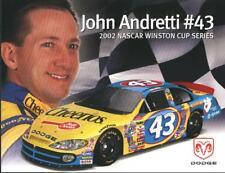 2002 John Andretti Dodge Intrepid NASCAR postcard