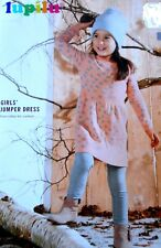 New LUPILU Girls Knitted Jumper Dress- Pink Color/ Hearts Pattern Size 2-4 Years
