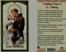 Unfailing Prayer to St Anthony Laminated Card Gentlest Saint Miraculous Powers