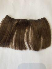 """4""""Long Human Hair Extensions streaks Bangs # Medium Brown #4 6."""" Wide"""