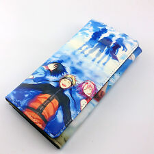 Long style PU wallet w/colorful printing of NARUTO Uzumaki/Sakur/Uchiha Sasuke