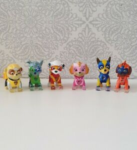 Paw Patrol Set Of all 6 Mighty Pups. Light Up Figures