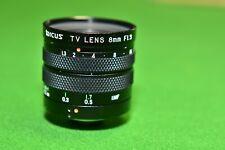 Tarcus F. 8mm f/1.3 28mm Television Prime lens C mount
