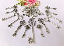 35  Large Mix Funky Silver Key Charms Mix 15-35 mm *updated