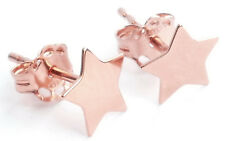 Stunning Celebrity Style Vermeil Rose Gold Over Sterling Silver 6mm Star Studs.