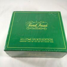 Clásico Trivial Pursuit All-Star Deporte Edición Subsidiary Tarjeta Set 1981