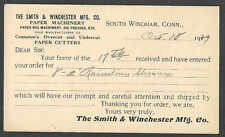 1929 PC SO WINDHAM CT SMITH & WINCHESTER MFG PAPER BAG MACHINES PRESSES ETC