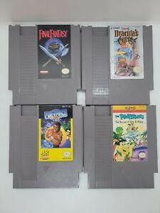 NICE (4×) Nintendo NES Game Lot (Final Fantasy, Castlevania 3, Flintstones, PP2)