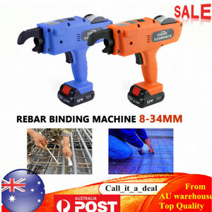 Automatic Rebar Tier Tying Machine Handheld Strapping 8-34mm 1500mAh Battery AU