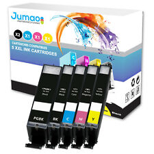 Lot de 5 cartouches jet d'encre type Jumao compatibles pour Canon Pixma MG5750