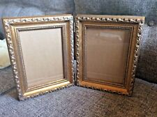 Gold Double hinged Picture Frame ornate new never used holds 5 by 7 5x7 photo