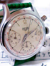 HEUER CHRONOGRAPH VALJOUX 72 REF 36806 ONE OF FIRST PRODUCED 1945 - 50 MINT COND