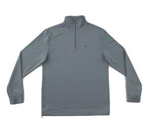 Vineyard Vines Pullover Shirt Size XS Grey Long Sleeve 1/4 Zip Jacket