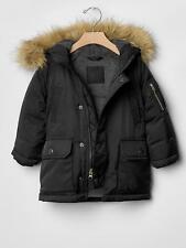 NWT BABY Gap KIDS Warmest snorkel jacket, BLACK SZ 12-18 MONTHS     #547075
