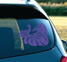 "Vinyl Sticker Decal Decor Art Beautiful Tribal Horse Head On Car SUV 7"" Purple"