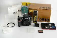 Nikon D810 FX-format DSLR Camera BODY ONLY w/ box, 4 memory cards, & more