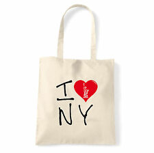 Art T-shirt, Borsa shoulder I Love NY, Natural, Shopper, Mare
