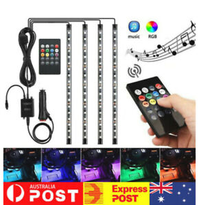 Car interior Led RGB 4 Pcs Set Watterproof Car led