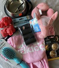 New Puppy Starter Kit Bowl Training Whistle Sweater Dog Bag Toy Treat Brush