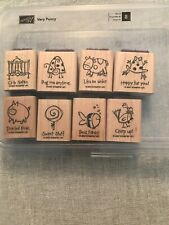 Stampin Up Very Punny Set Of 8 Wood Mounted Rubber Stamp Su Scrapbooking 2007
