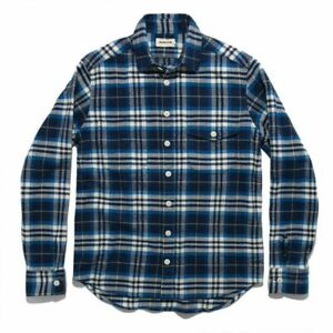 Taylor Stitch — Crater Flannel Shirt, Size 42 Large, Blue Plaid: Fall 2018, Rare