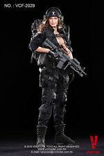 Very cool 1/6 ACU CAmo female shooter (v cf-2029)