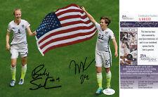 Meghan Klingenberg, Becky Sauerbrunn World Cup Usa Soccer Combo Jsa Signed 8x10