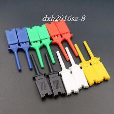 12Pcs Grabber Test Hook Clip Probe 6 Color Multimeter Test Tools For SMD IC