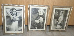"""Three Vintage Sexy 1940s BURLESQUE MOVING LENTICULAR FLICKER PHOTO, 5"""" X 7"""" Pic"""