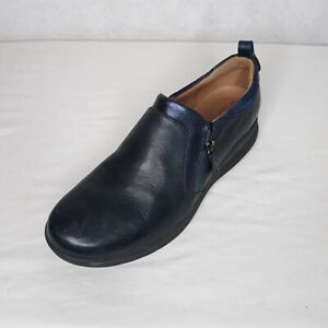 Clarks Unstructured Women's Side-Zip Slip-On Shoes Un Adorn Zip Blue US 8.5M