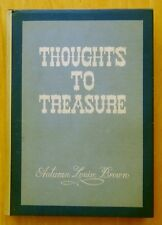 Thoughts to Treasure (Poems) by Autumn Louise Brown SIGNED 1968 HC DJ Poetry