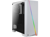 AeroCool Mid Tower case Cylon White RGB with built-in Card Reader.