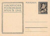GERMANY - POSTAL STATIONERY - EUROPEAN POSTAL CONGRESS - VIENNA - 1942