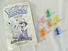 Vintage Pokemon 1999 Master Trainer Instructions + Replacement Figures Set of 6