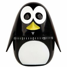 Kikkerland Penguin Magnetic 60 Minute Mechanical Kitchen Timer