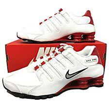 Nike Shox NZ White/Red-Metallic Silver Mens Running Sneakers SZ 378341 110 (NEW)