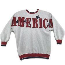 New listing LEGENDS Vintage 90's AMERICA Spellout Sweatshirt Womens XXXL 3XL Gray Crew USA