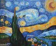 Van Gogh, Sternennacht - Miniaturbild komplett mit Aufhänger!