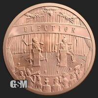 5 oz Copper Round - Elections | Crescent City Silver