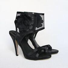 Plataforma pumps 39 negro tacón alto stilettos señora sandalias con tiras 10779