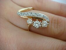 14K YELLOW GOLD 0.50 CARAT T.W. HIGH END DIAMOND FREE STYLE LADIES RING SIZE 6