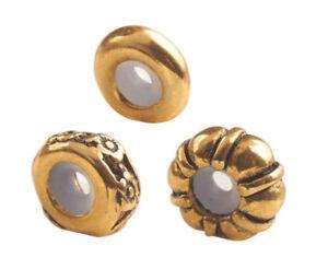 12PCS Antiqued Gold Mixed Stopper Beads fits 3mm Charm Bracelet #92593