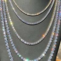 von Punk Bling Link Diamanten Gold/Silber Chain Choker Hip Hop Tennis Halskette