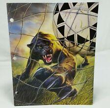 Mead No Rules Portfolio Vintage 90s Folder Sports Panther Soccer 1995 School Art