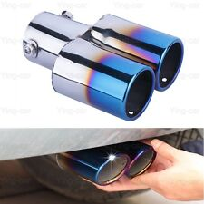 Blue Double Outlets Exhaust Muffler Tail Pipe Tip Tailpipe for Kia Optima 10-17