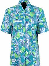 Womens Ladies Blouses Front Button Short Sleeves From Sonia Fashions 20 Jade
